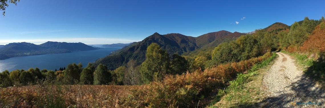Panorama Mago Maggiore dal Monte Carza