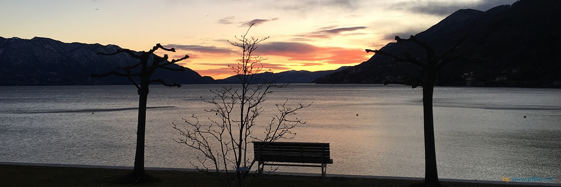 Sunset over Lake Maggiore