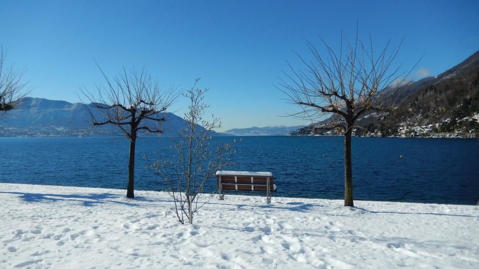Cannero Riviera - Lido in inverno