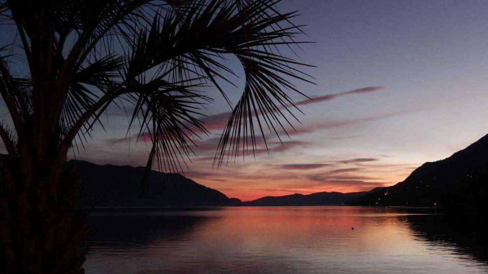 Cannero Riviera - Lido al tramonto