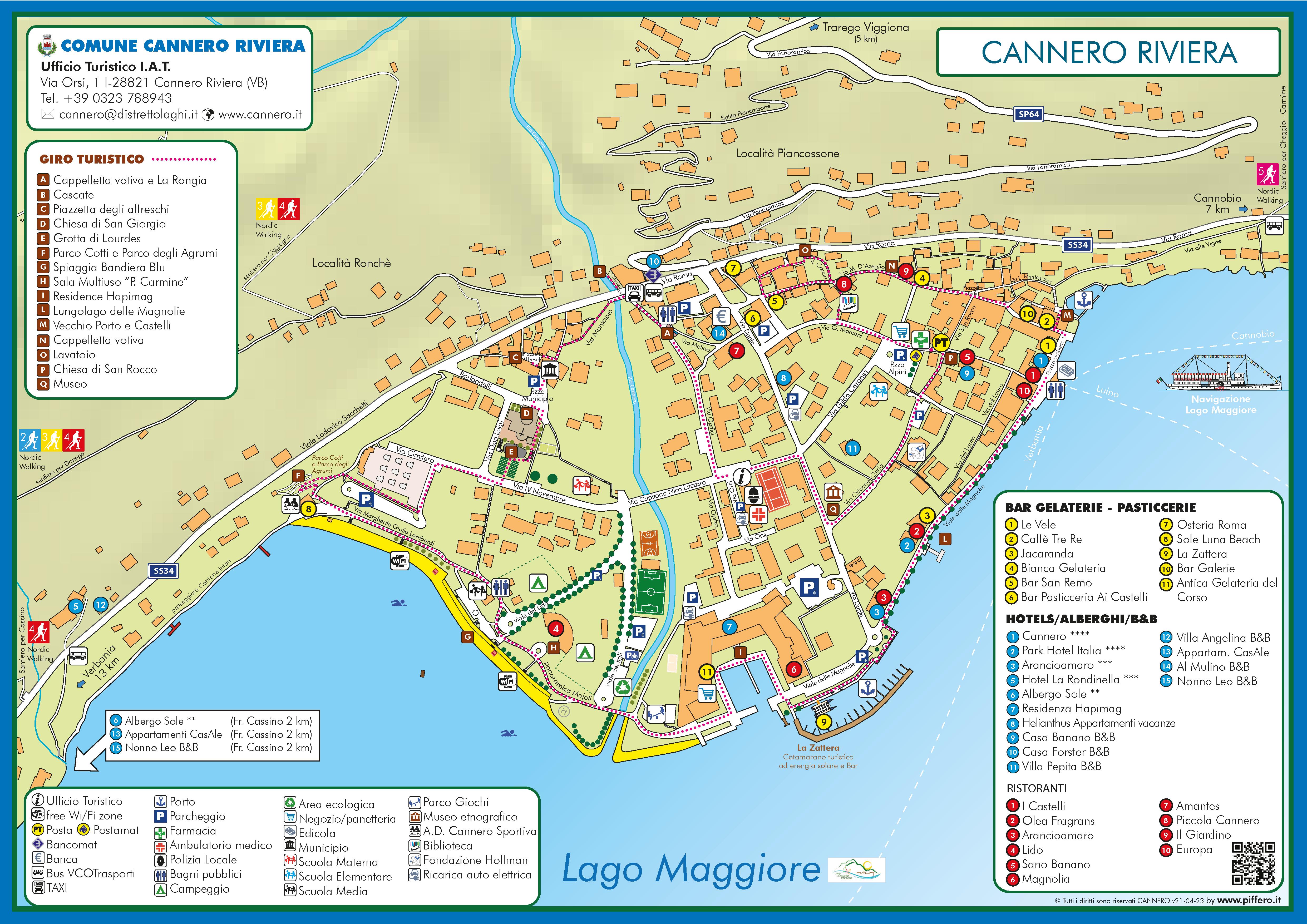 Lageplan Cannero Riviera