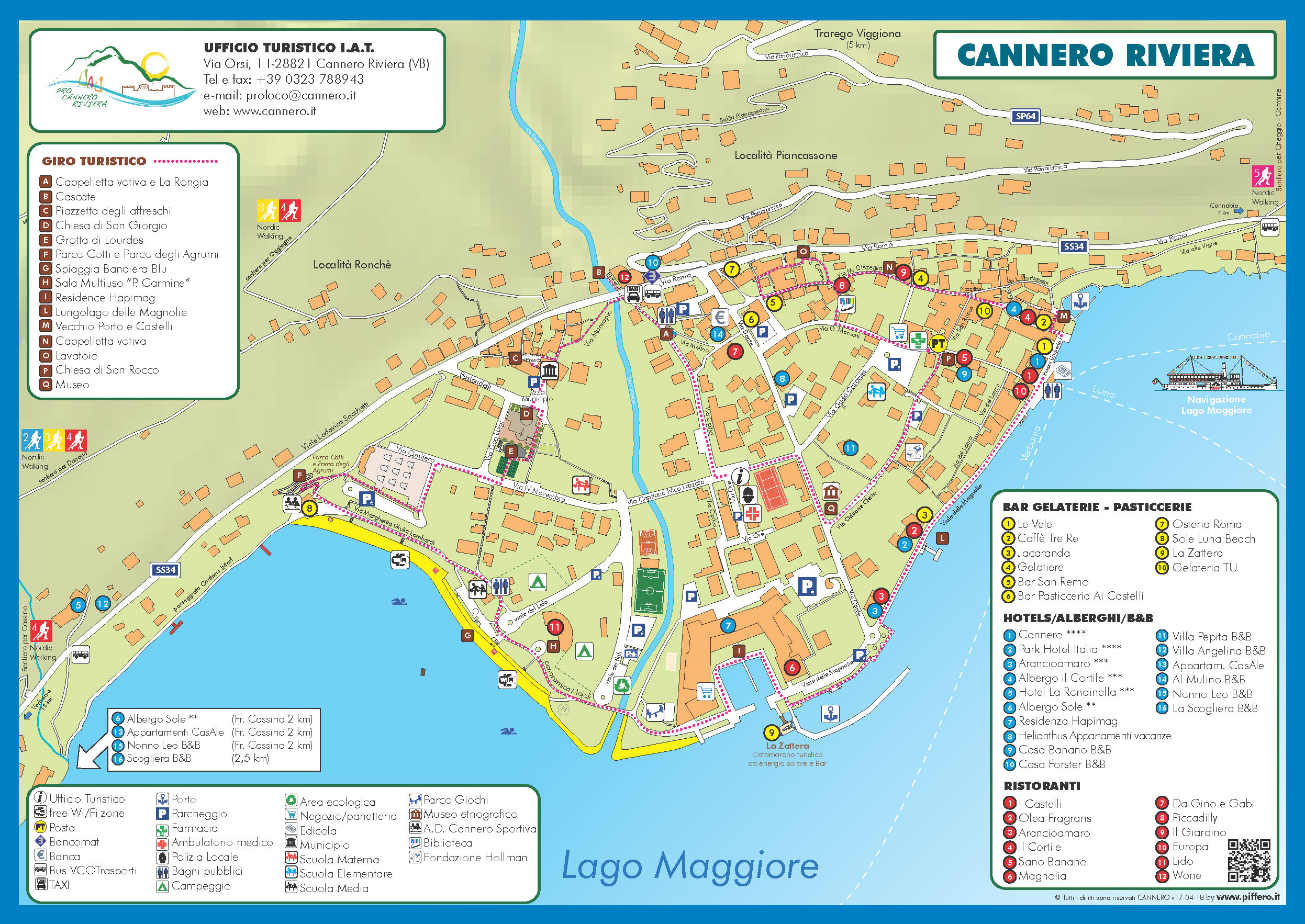 Cartina turistica di Cannero