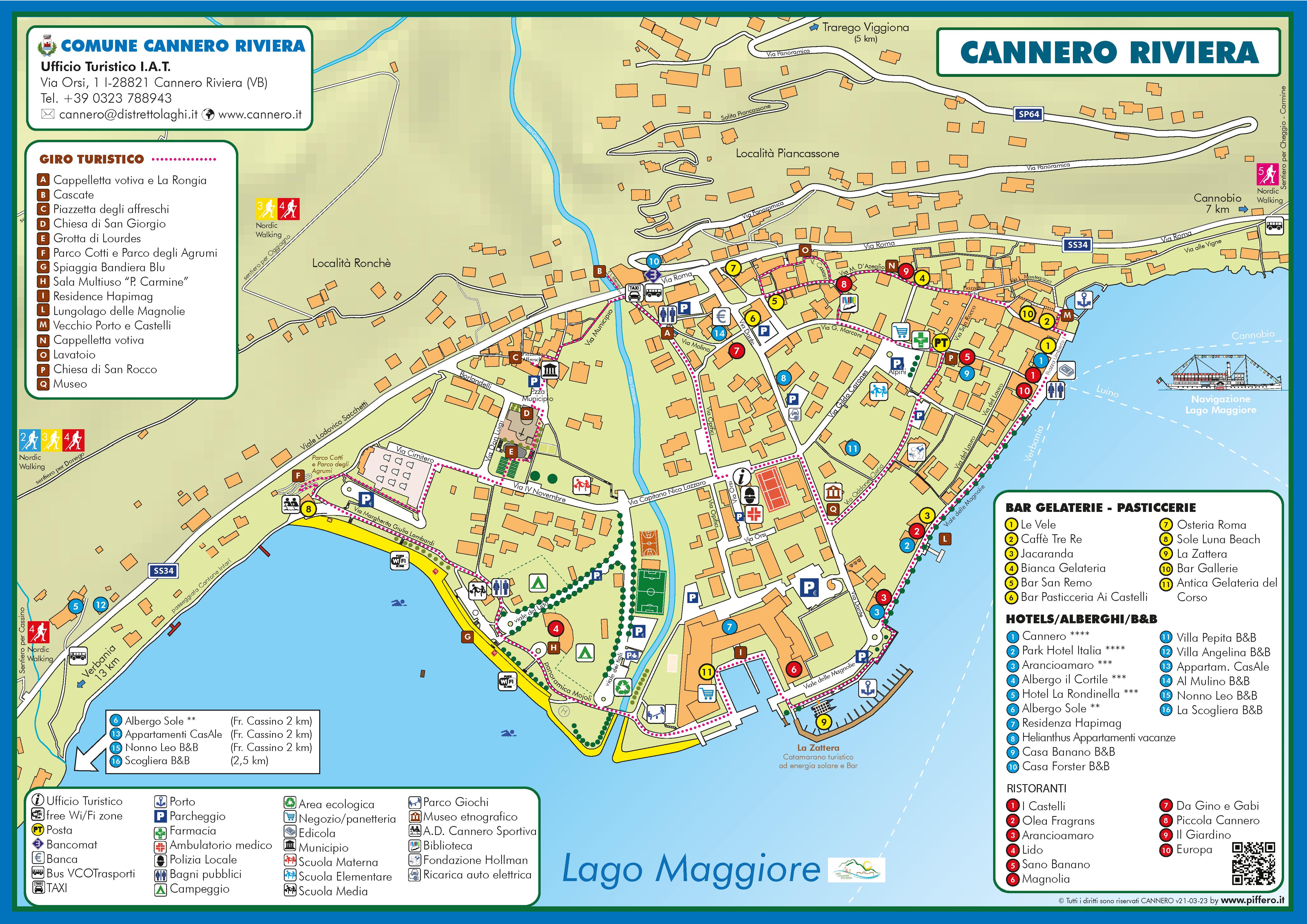 Mappa Cannero Riviera