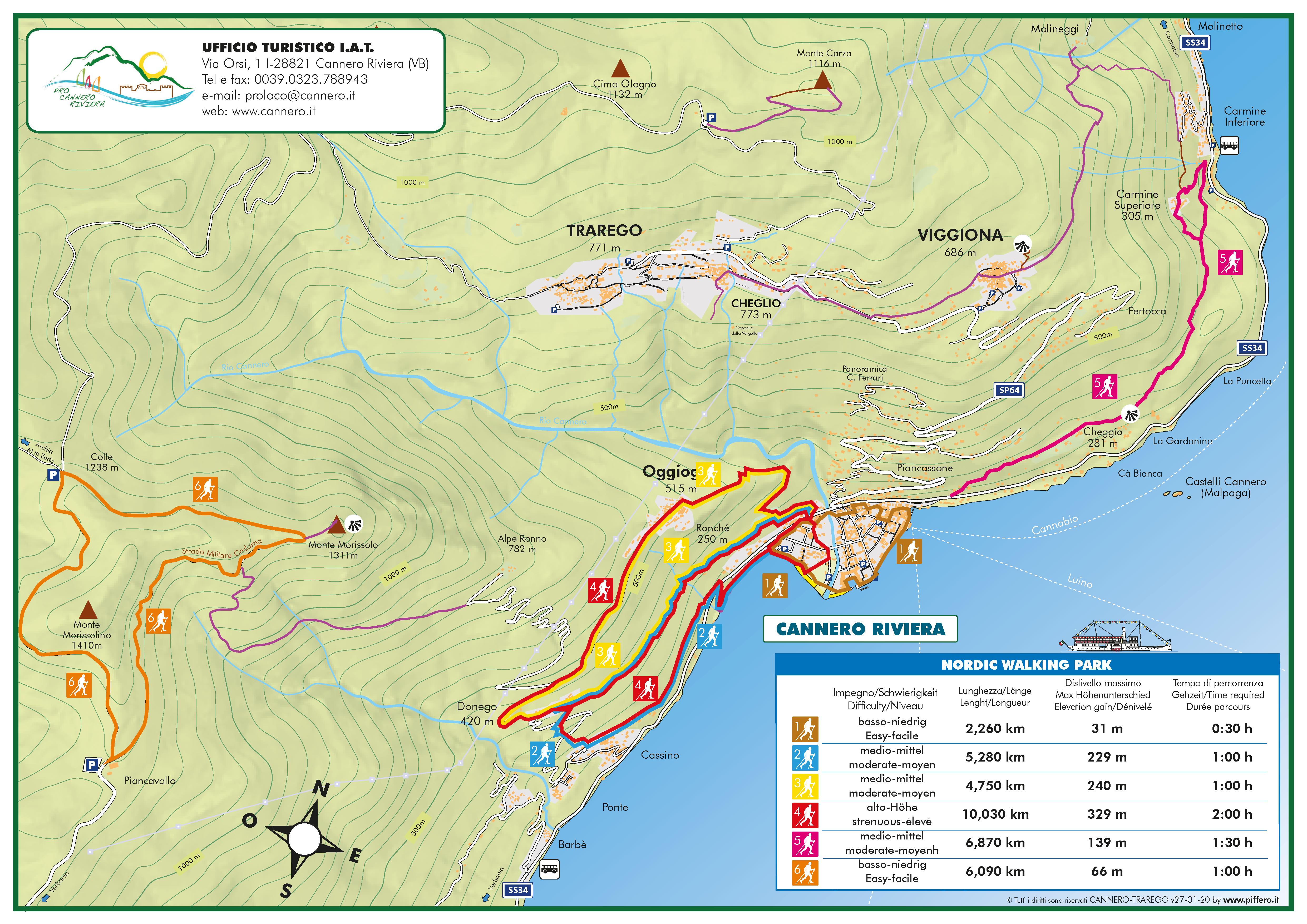 Lageplan Sentieri di Cannero Riviera
