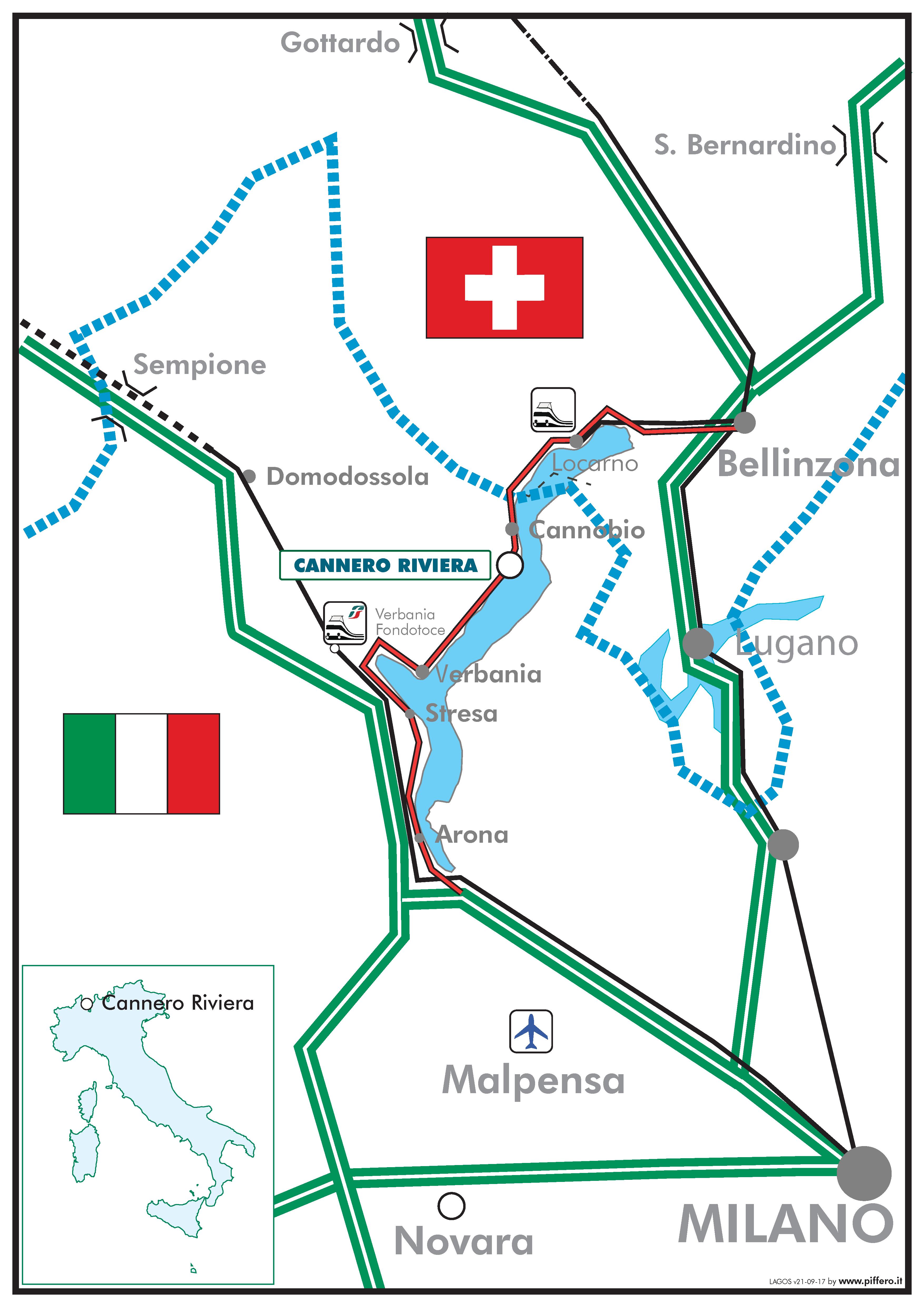 Cartina Lago Maggiore