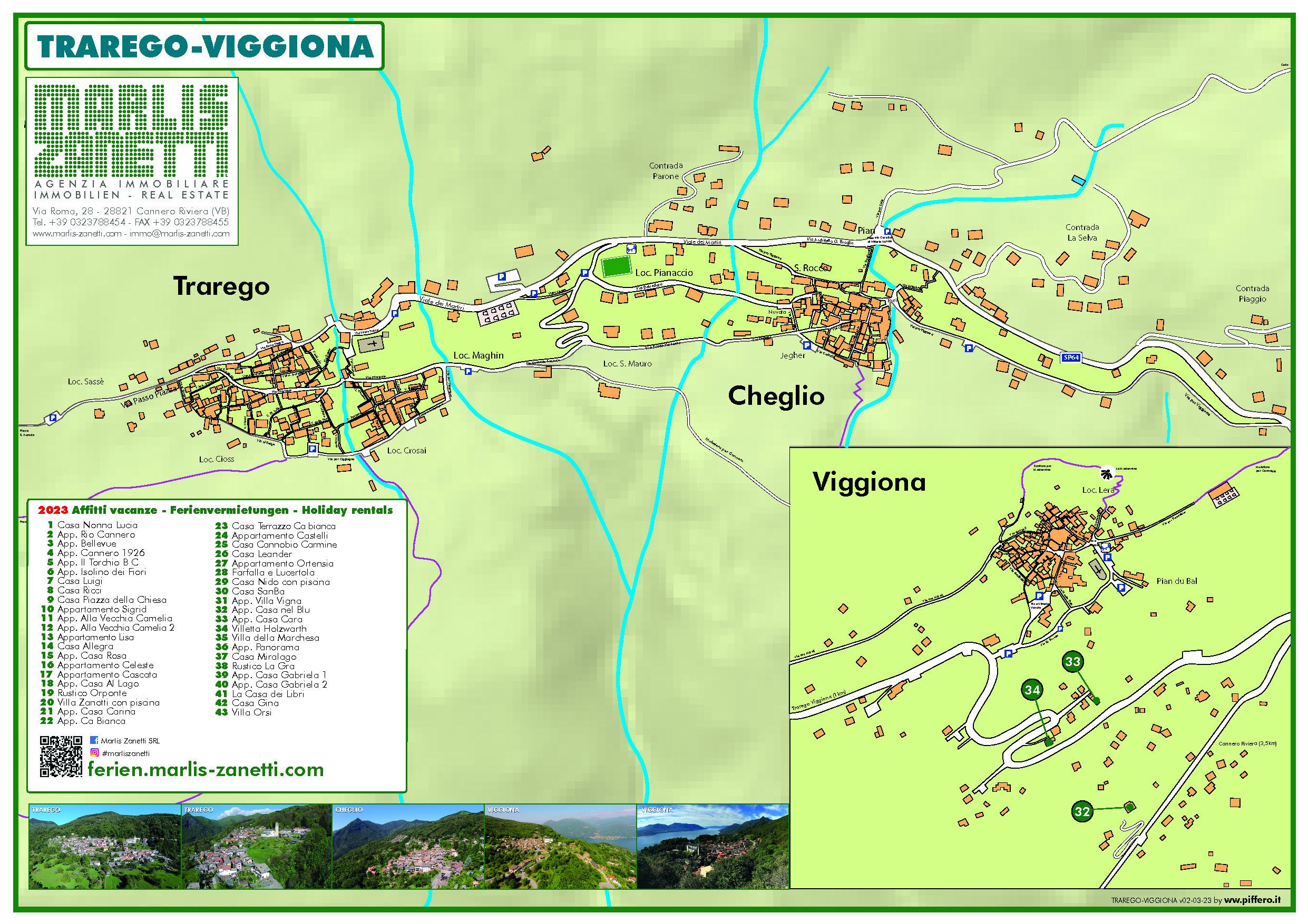 Map Trarego Viggiona