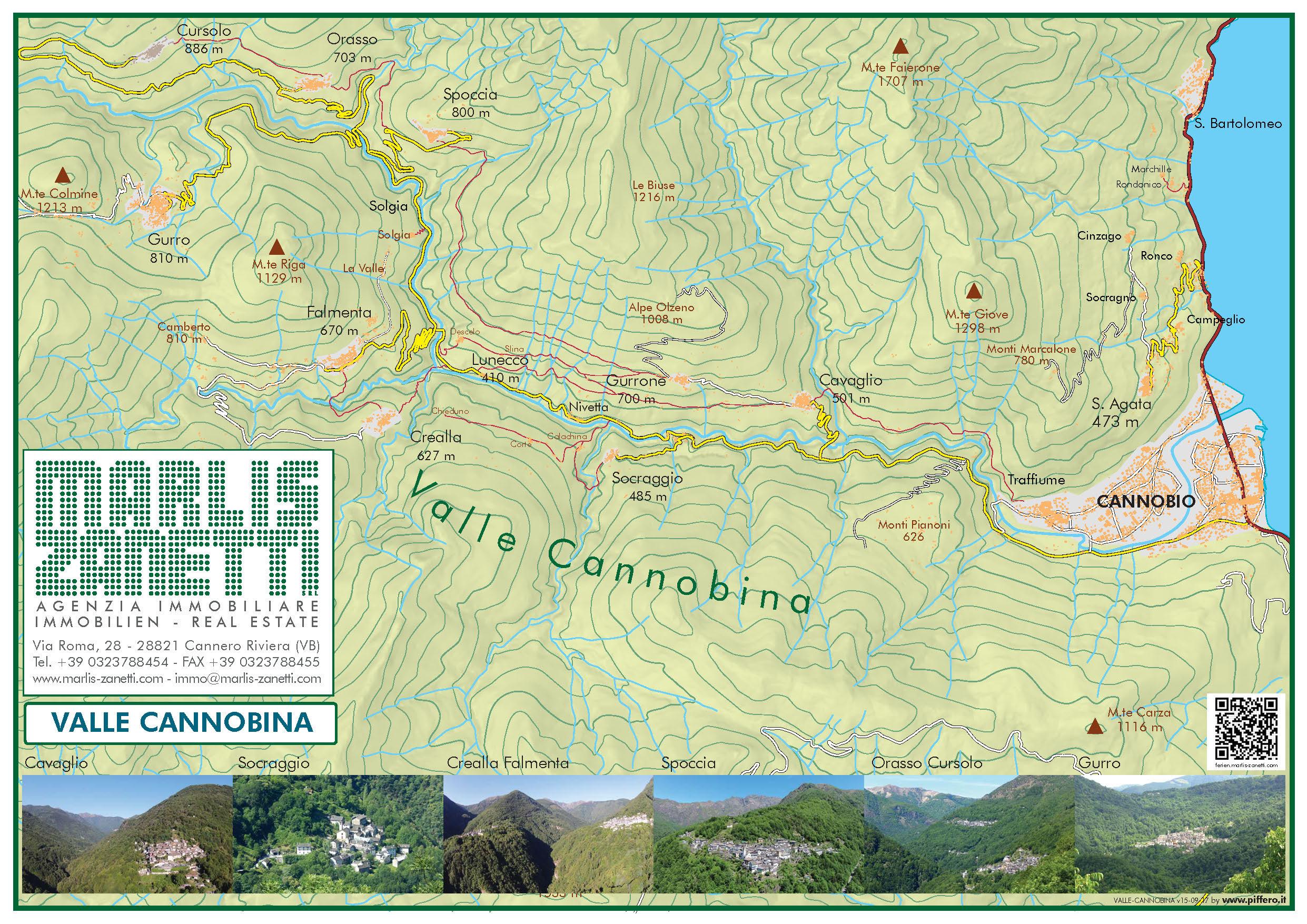 Mappa Valle Cannobina - Lago Maggiore