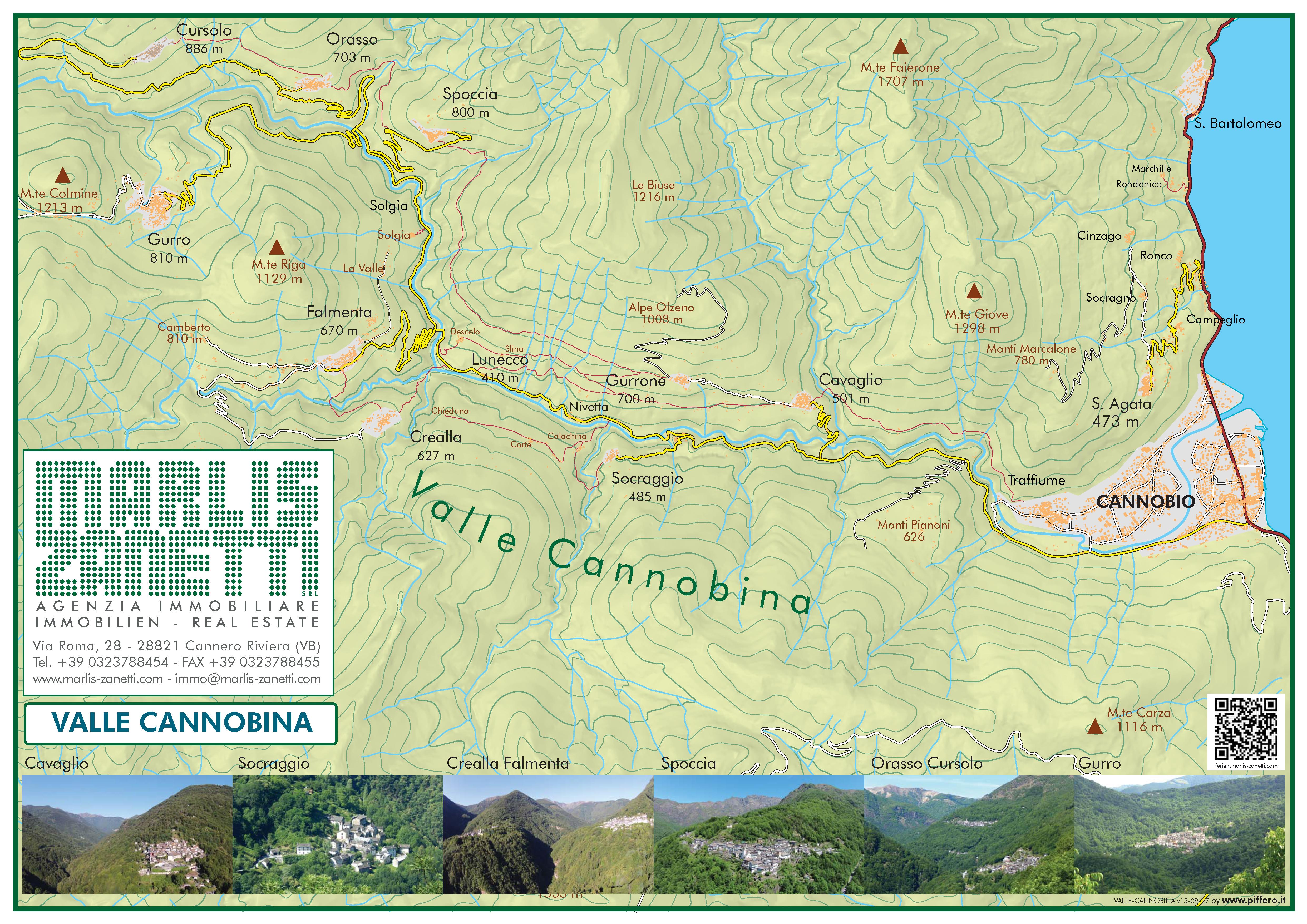 Cartina Valle Cannobina Lago Maggiore